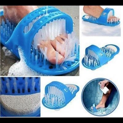 Papuc de baie cu ventuze si perii pentru curatare si masaj picioare, Easy Feet [5]