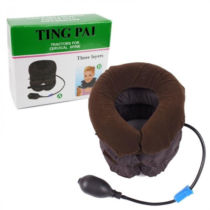 Perna cu aer pentru sustinere cervicala, potrivita si pentru calatorii [1]