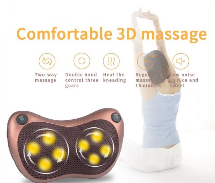 Perna electrica pentru masaj cervical, cu incalzire Massage Pillow [3]