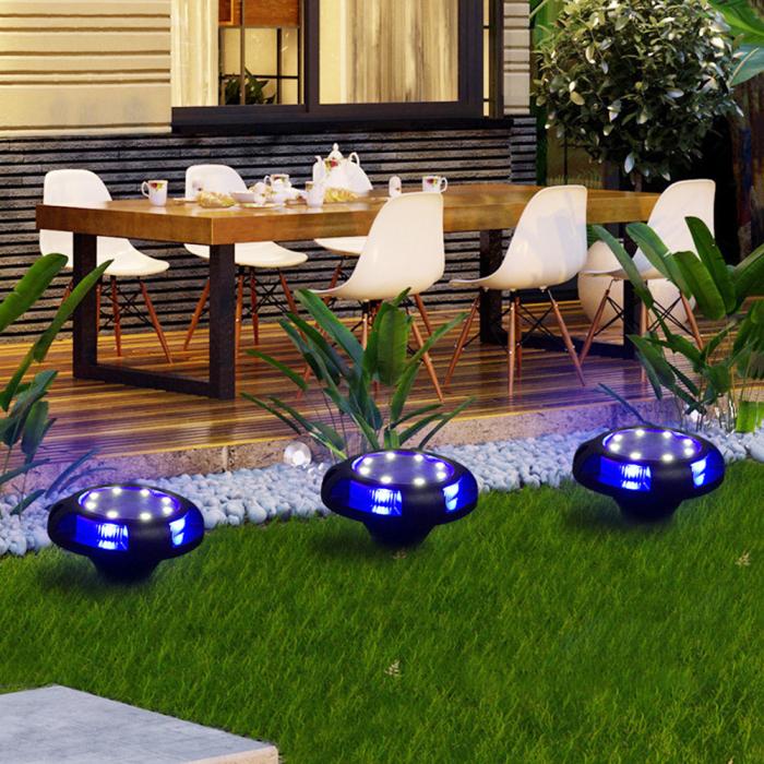 Set 4 lampi solare exterior incorporabile sau aplicabile, terasa sau gradina [8]
