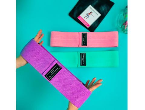 Set benzi elastice fitness din bumbac si latex, 3 nivele de rezistenta, multicolore [7]
