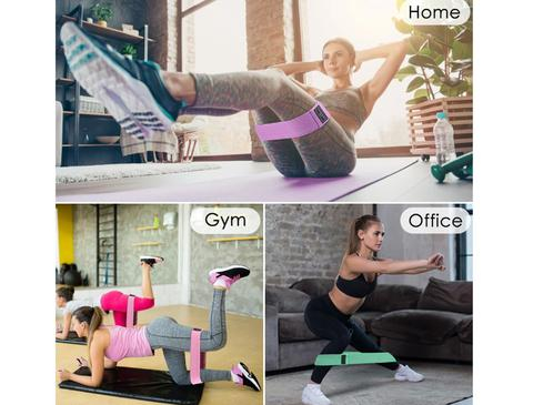 Set benzi elastice fitness din bumbac si latex, 3 nivele de rezistenta, multicolore [9]