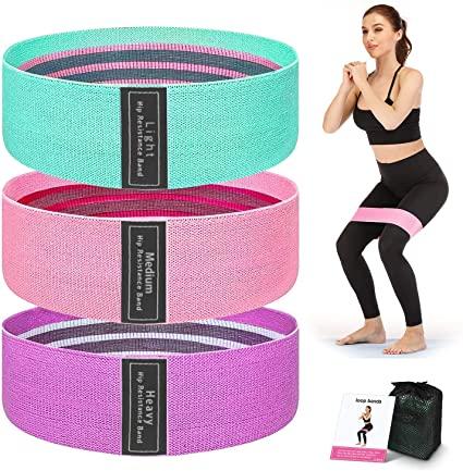Set benzi elastice fitness din bumbac si latex, 3 nivele de rezistenta, multicolore [3]