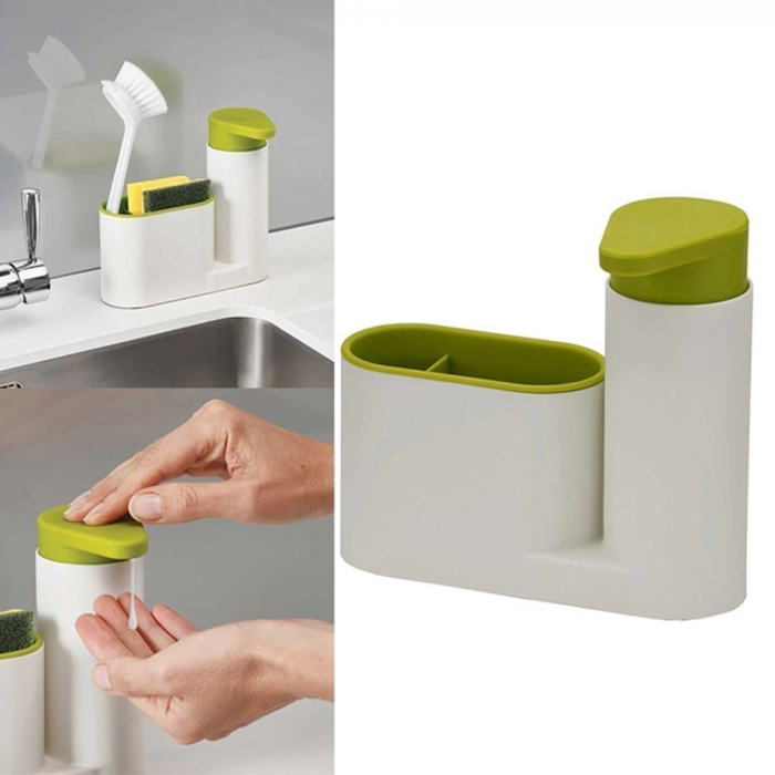 Set dozator detergent, baie sau bucatarie, Sink tidy sey Plus [1]