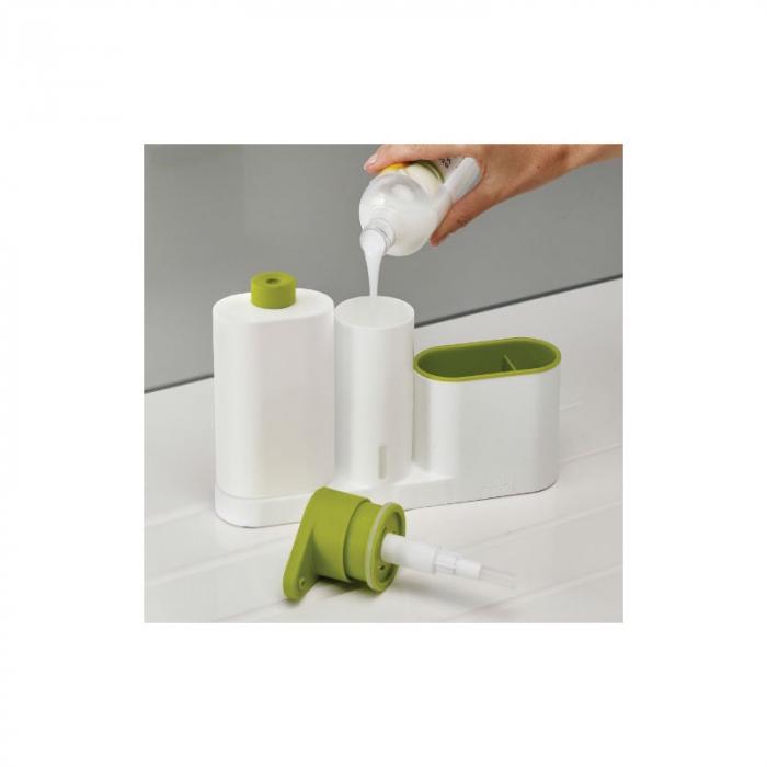 Set dozator detergent MAXI, baie sau bucatarie, Sink tidy sey Plus [2]