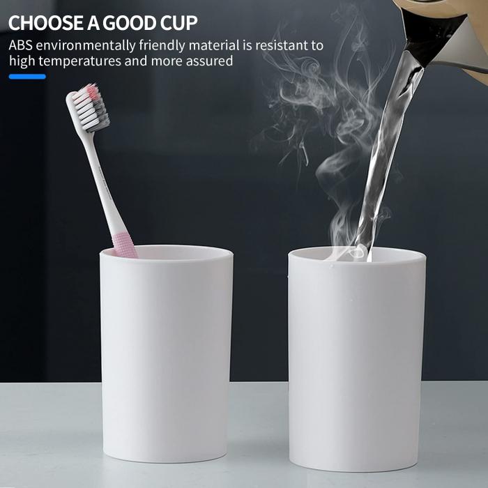 Suport pentru 4 periute de dinti cu 2 pahare magnetice si dispenser pasta de dinti [7]