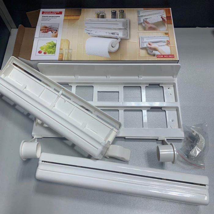 Suport triplu de bucatarie pentru hartie, folie aluminiu si folie stretch [2]