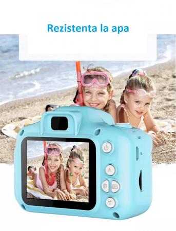 Aparat foto copii Full HD, Digital camera Record LCD , 2.0 inch ,AVI,  jpg, Micro SD, View 140, memorie interna 128M, rezistent la apa [7]
