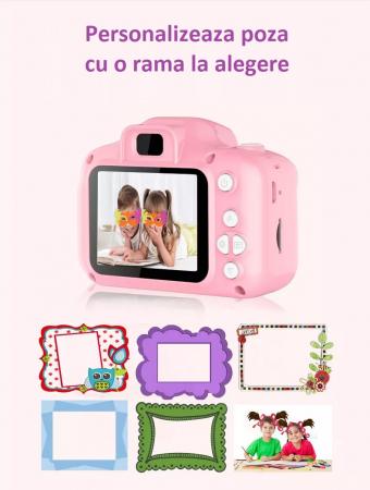 Aparat foto copii Full HD, Digital camera Record LCD , 2.0 inch ,AVI,  jpg, Micro SD, View 140, memorie interna 128M, rezistent la apa [8]