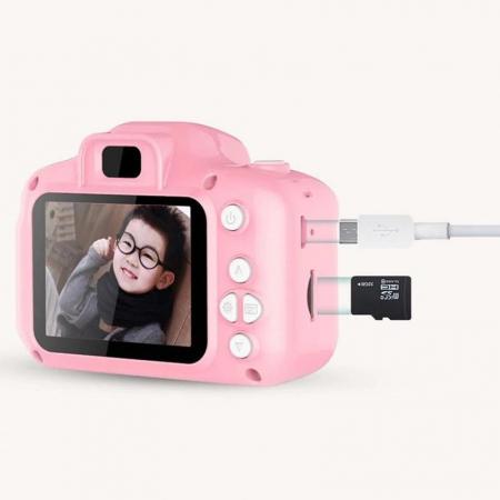 Aparat foto copii Full HD, Digital camera Record LCD , 2.0 inch ,AVI,  jpg, Micro SD, View 140, memorie interna 128M, rezistent la apa [4]