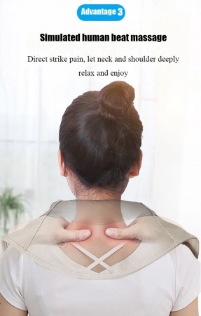 Aparat masaj Shawls, umeri si gat, pentru relaxare si dureri musculare, vibratii intense [1]