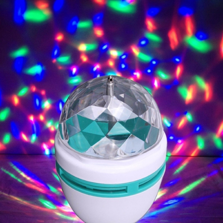 Bec rotativ disco Full Color LED mini party consum 3W [1]