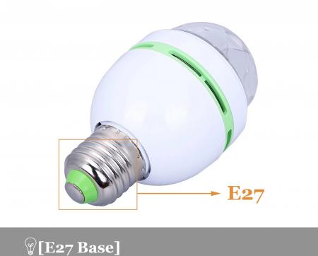 Bec rotativ disco Full Color LED mini party consum 3W [2]