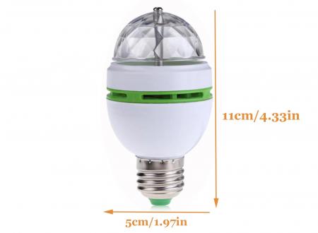 Bec rotativ disco Full Color LED mini party consum 3W [3]