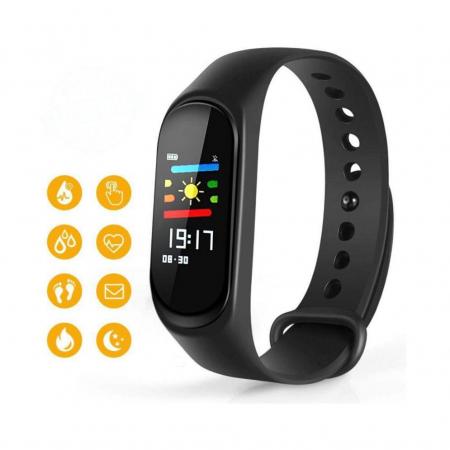Bratara Fitness M3, monitorizare activitati sanatate, somn, puls, oxigen, ritm cardiac [3]