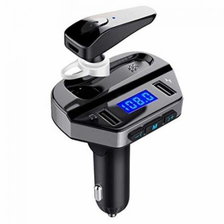 Car kit modulator MP3 V6, handsfree, 12 V, 2 x USB, casca bluetooth [0]
