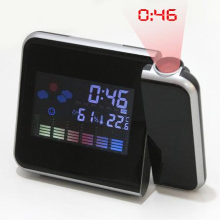 Ceas cu calendar, alarma, temperatura, umiditate si proiectie, ecran color cu iluminare, DS-8190 [4]