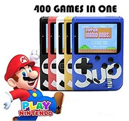 Consola SUP Game Box, 400 jocuri, rotita volum, ecran LCD, cablu AV pentru conectare televizor, incarcare Micro-USB, jocurile copilariei [0]