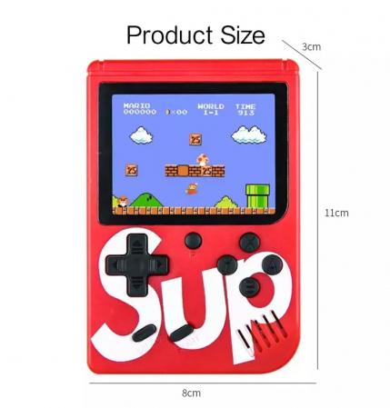 Consola SUP Game Box, 400 jocuri, rotita volum, ecran LCD, cablu AV pentru conectare televizor, incarcare Micro-USB, jocurile copilariei [3]