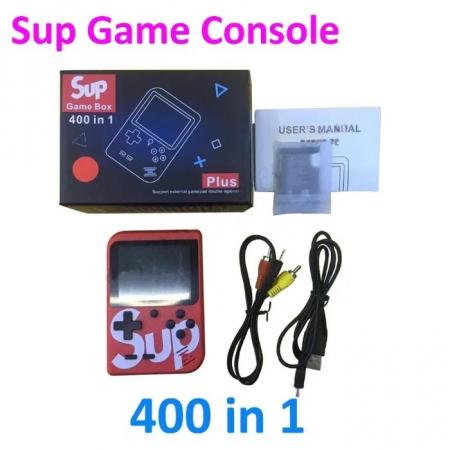 Consola SUP Game Box, 400 jocuri, rotita volum, ecran LCD, cablu AV pentru conectare televizor, incarcare Micro-USB, jocurile copilariei [10]