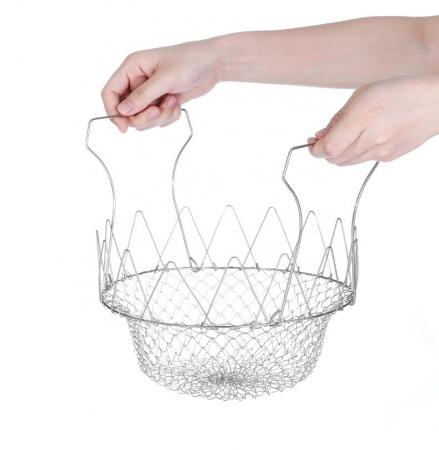 Cos pentru gatit sau scurs, 12 in 1, din inox, Chef Basket [9]