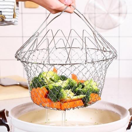 Cos pentru gatit sau scurs, 12 in 1, din inox, Chef Basket [0]