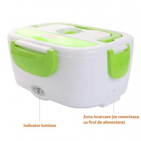 Caserola electrica pentru pranz, caserola cu preincalzire, Electric Lunchbox [3]