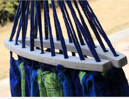 Hamac colorat cu bara de lemn [4]