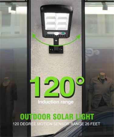 Lampa solara 6 celule, 120 LED-uri COB, cu telecomanda, 30 W [6]