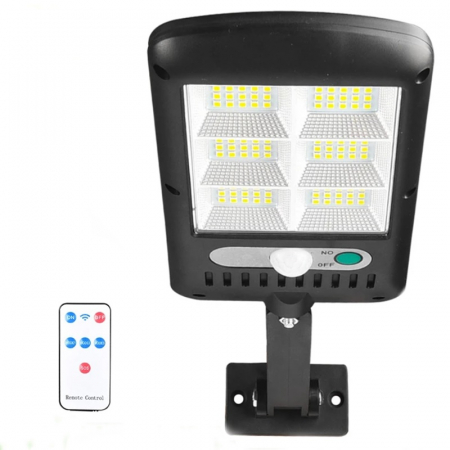 Lampa solara 6 celule, 120 LED-uri COB, cu telecomanda, 30 W [0]