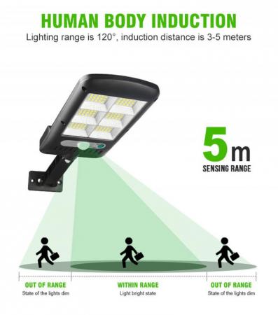 Lampa solara 6 celule, 120 LED-uri COB, cu telecomanda, 30 W [3]