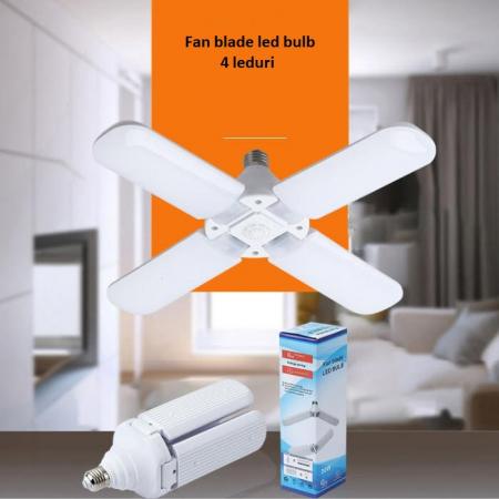 Led cu 4 brate pliabile Fan blade led bulb [7]