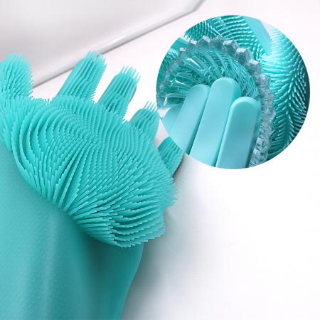 Manusi silicon cu perii pentru menaj, multifunctionale [3]