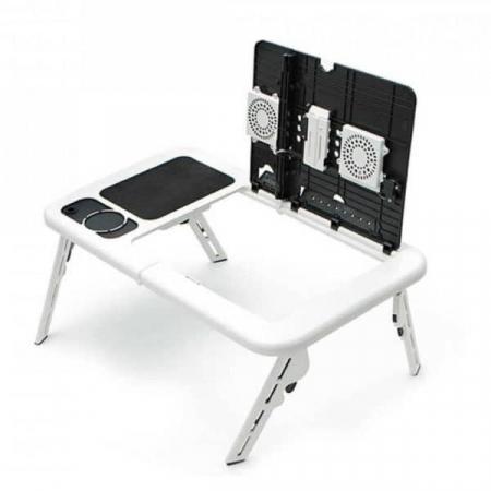 Masa laptop E-Table cu 2 ventilatoare si picioare pliabile [11]