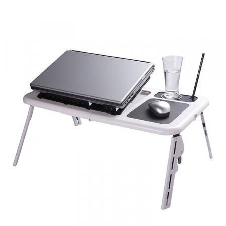 Masa laptop E-Table cu 2 ventilatoare si picioare pliabile [1]