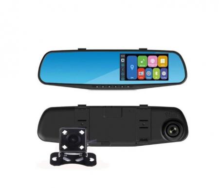 Oglinda auto DVR retrovizoare, camera fata-spate Full HD 1080 [0]