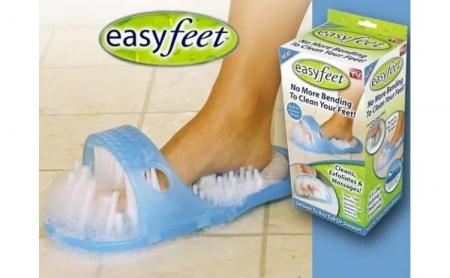 Papuc de baie cu ventuze si perii pentru curatare si masaj picioare, Easy Feet [4]
