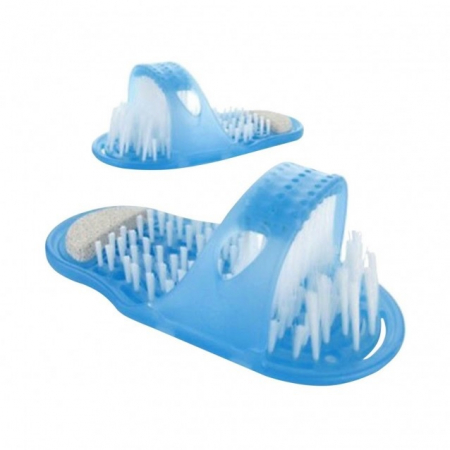 Papuc de baie cu ventuze si perii pentru curatare si masaj picioare, Easy Feet [3]