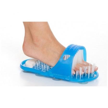 Papuc de baie cu ventuze si perii pentru curatare si masaj picioare, Easy Feet [0]