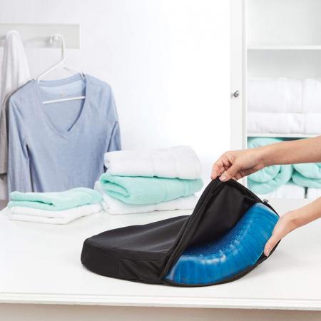 Perna din gel cu memorie, pentru scaun normal sau scaun de birou, HUSA INCLUSA [7]