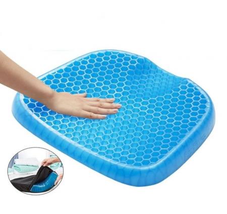 Perna din gel cu memorie, pentru scaun normal sau scaun de birou, HUSA INCLUSA [1]