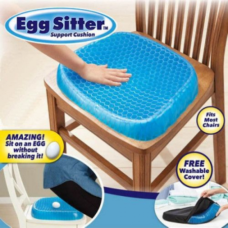 Perna din gel cu memorie, pentru scaun normal sau scaun de birou, HUSA INCLUSA [3]
