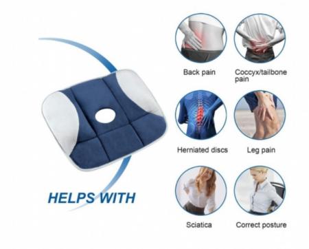 Perna pentru sezut cu gel, pentru corectarea posturii, Pure posture [4]