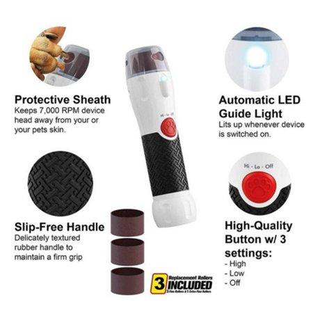 Pila electrica pentru caini si pisici cu 2 viteze si lumina LED, Paw Perfect [3]