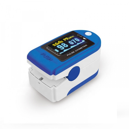 Pulsoximetru digital pentru deget, Albastru/Alb, Model X1906 [0]