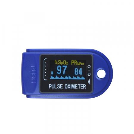 Pulsoximetru digital pentru deget, Albastru/Alb, Model X1906 [1]