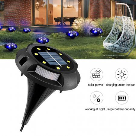 Set 4 lampi solare exterior incorporabile sau aplicabile, terasa sau gradina [9]