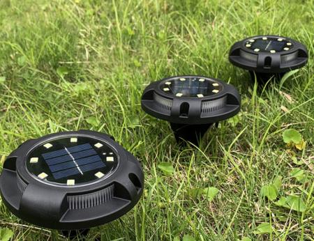 Set 4 lampi solare exterior incorporabile sau aplicabile, terasa sau gradina [10]