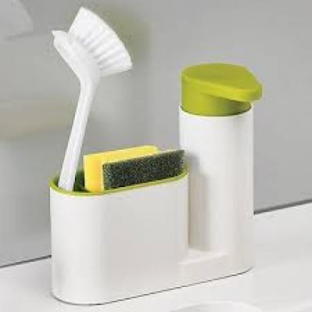Set dozator detergent, baie sau bucatarie, Sink tidy sey Plus [2]