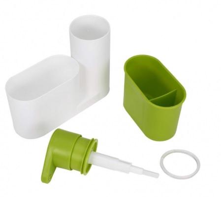 Set dozator detergent, baie sau bucatarie, Sink tidy sey Plus [4]